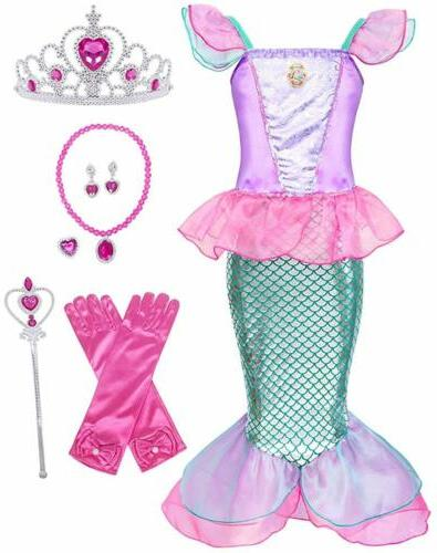 Kids Girl Ariel Cospaly Crown