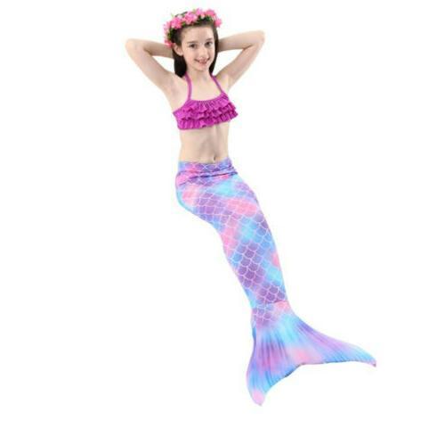 Kids Mermaid Tail Bikini Swimming Swimwear