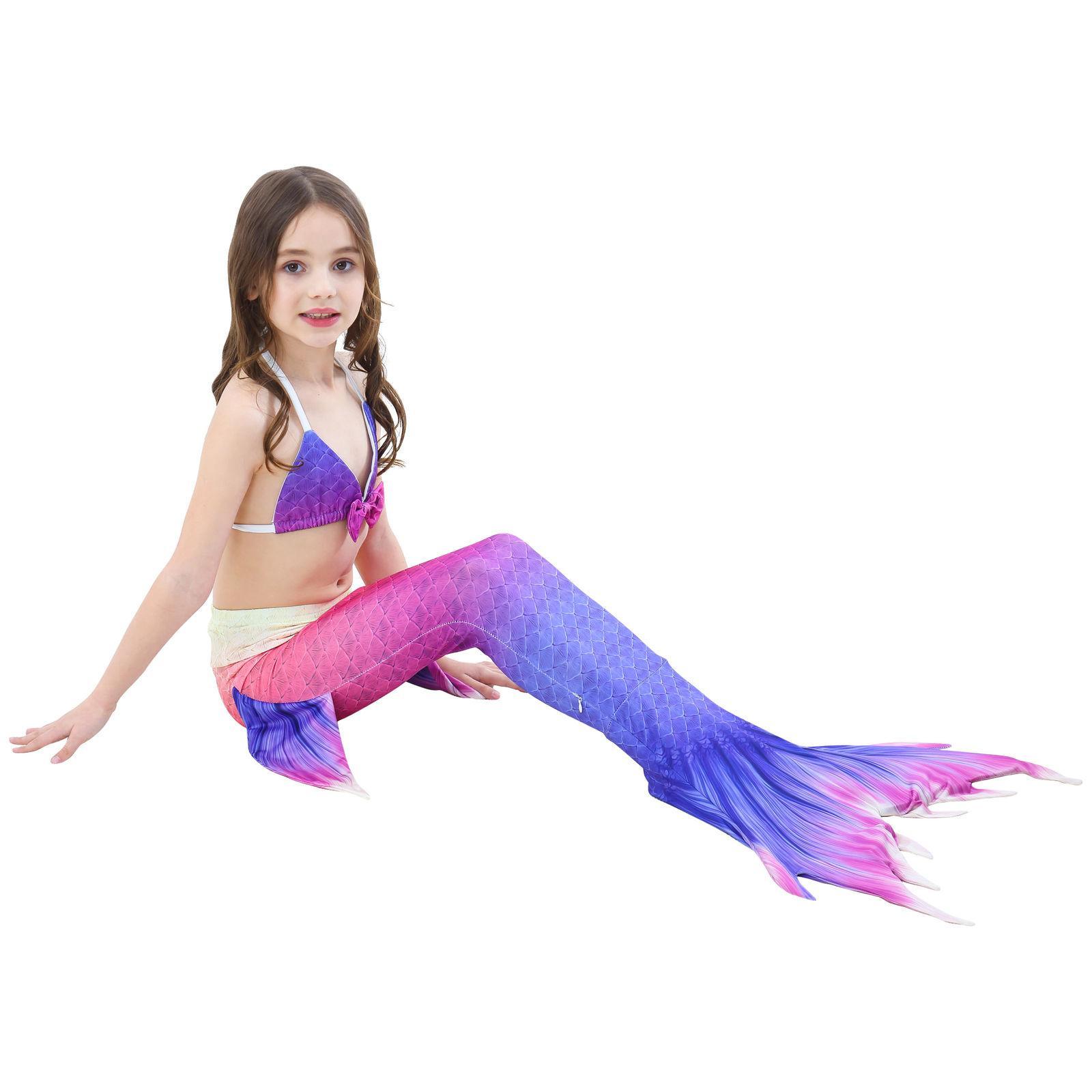 Kids Tail Bikini Set Tail Swimwear