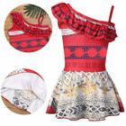 Kids Girl One-Piece Moana Costumes Swimsuit Ruffled One-Shou