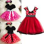 Kids Girl Toddler Disney Minnie Mouse Dress Halloween Party