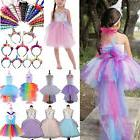 Kids Girl Unicorn Princess Party Formal Wedding Dresses Cosp