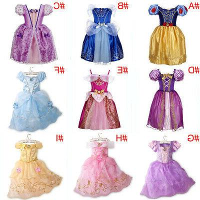 Kids Girls Fairytale Belle Cinderella Rapunzel