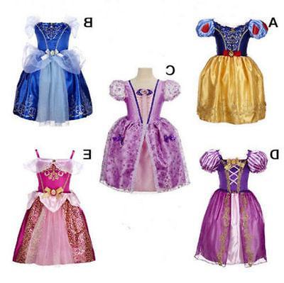 Kids Costume Fairytale Dress Up Cinderella Aurora