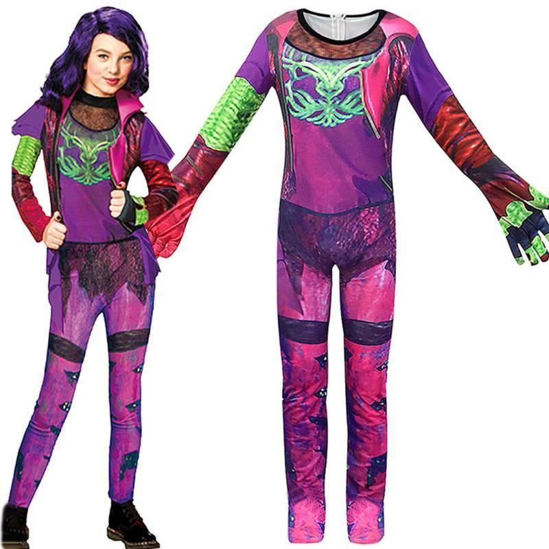 Kids Descendants 3 Mal Jumpsuit Halloween Party Fancy Dress