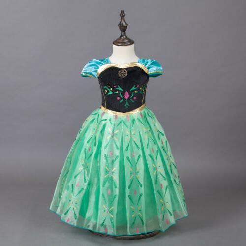 kids girls disney frozen movie princess dress
