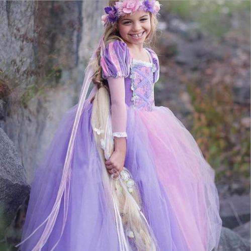 Kids Girls Costume Belle Dress Cos