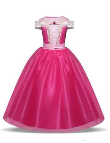 Kids Girls Disney Belle Dress Costume