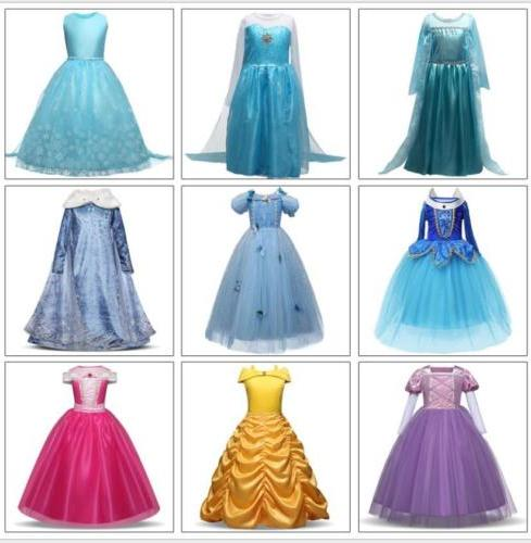 kids girls disney princess costume elsa anna