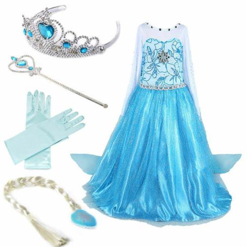 Kids Girls Dress Wand Crown Party