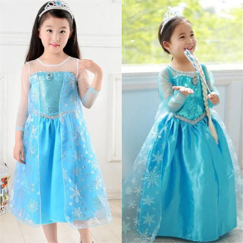 Kids Girls Dress Costume Party Dresses US