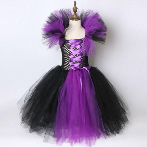 Kids Girls Queen Dress Outfit Gown