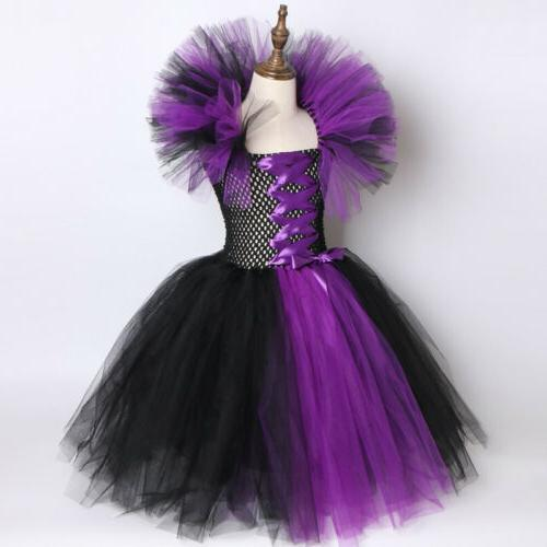 Kids Queen Costume Cosplay Dress Up Outfit Gown