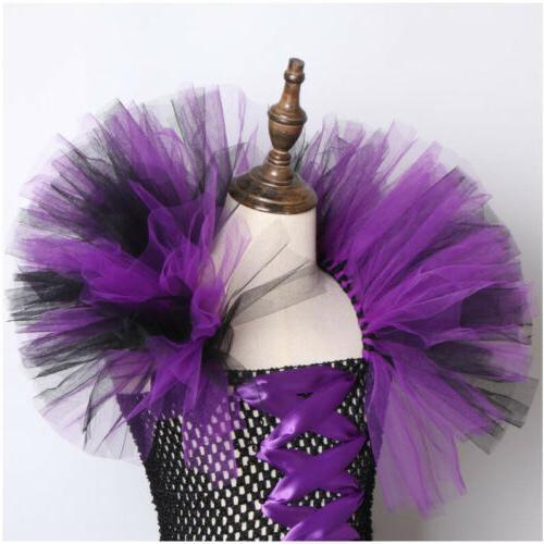 Kids Evil Queen Costume Fancy Dress Up Gown