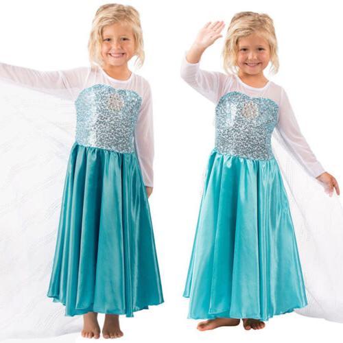 Kids Girls Maxi Dress Princess Party Dresses