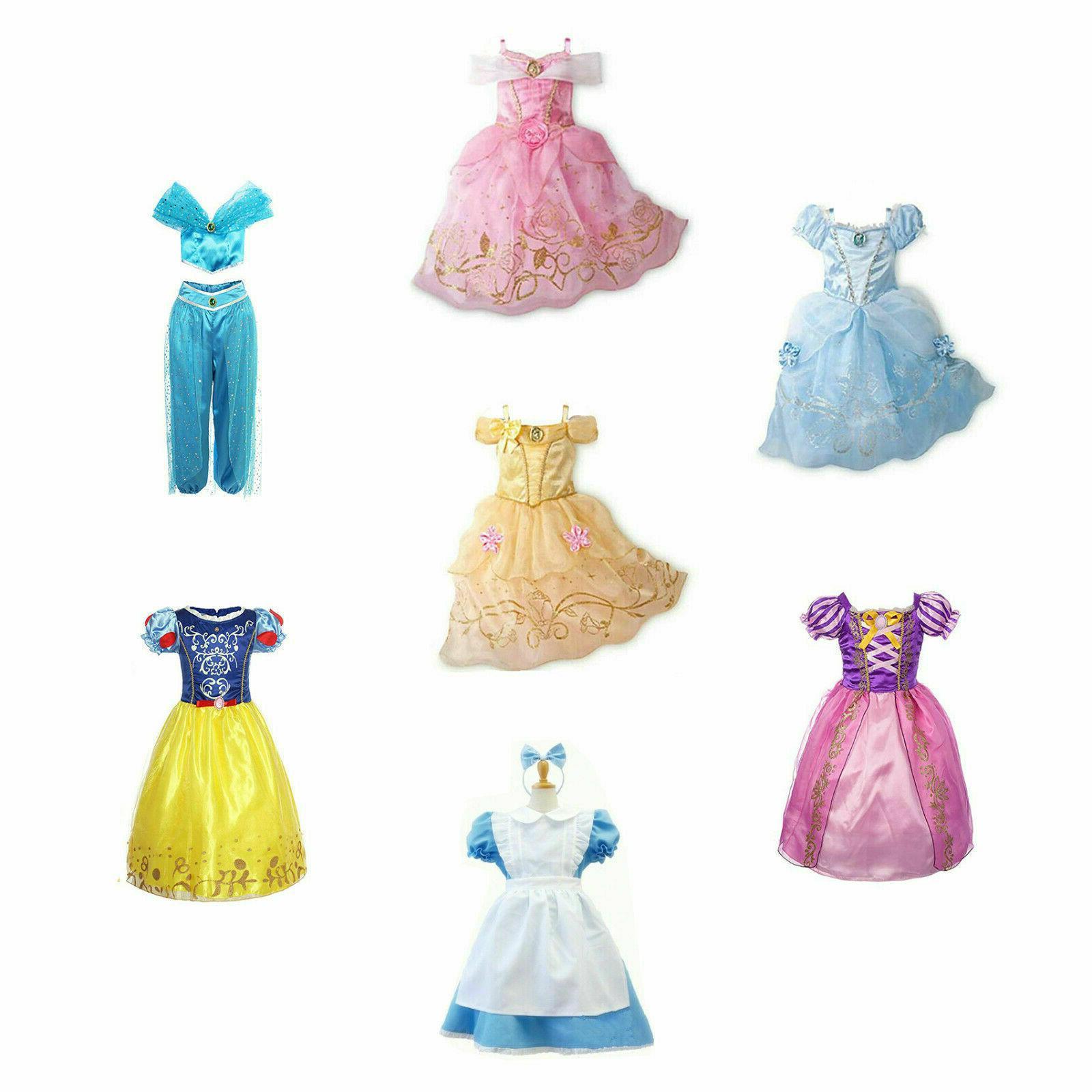 kids girls halloween costume princess fairytale dress
