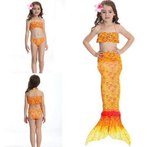 Kids Mermaid Tail Summer Mono Beahwear