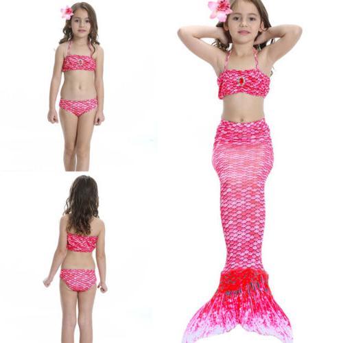 Kids Girls Mermaid Swimsuit Tail Costume Mono