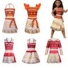 Kids Girls Moana Princess Dress Halloween Cosplay Party Cost