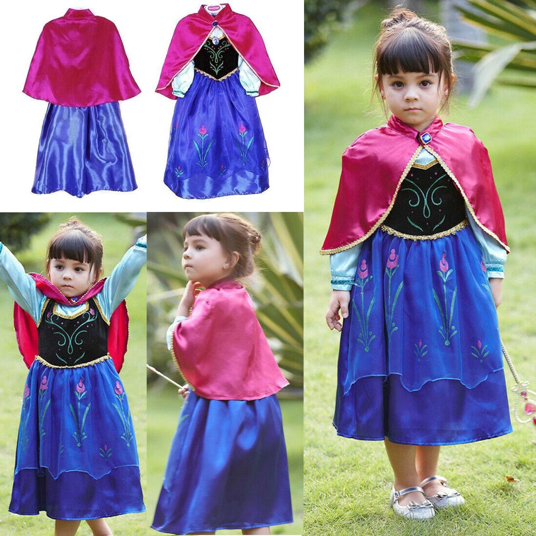 Kids Girls Dress Up Costume Cinderella Rapunzel☆