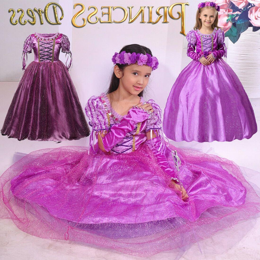 Kids Dress Up Cinderella Aurora Rapunzel☆