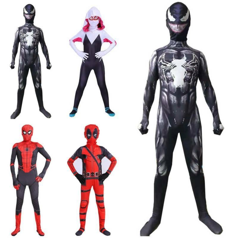 kids infant boys spiderman superhero cosplay costume