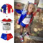 Kids Suicide Squad Harley Quinn Party Dress Cosplay Pants Sh