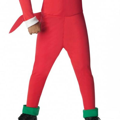 Knuckles Costume Kids Sonic The Hedgehog Halloween Fancy