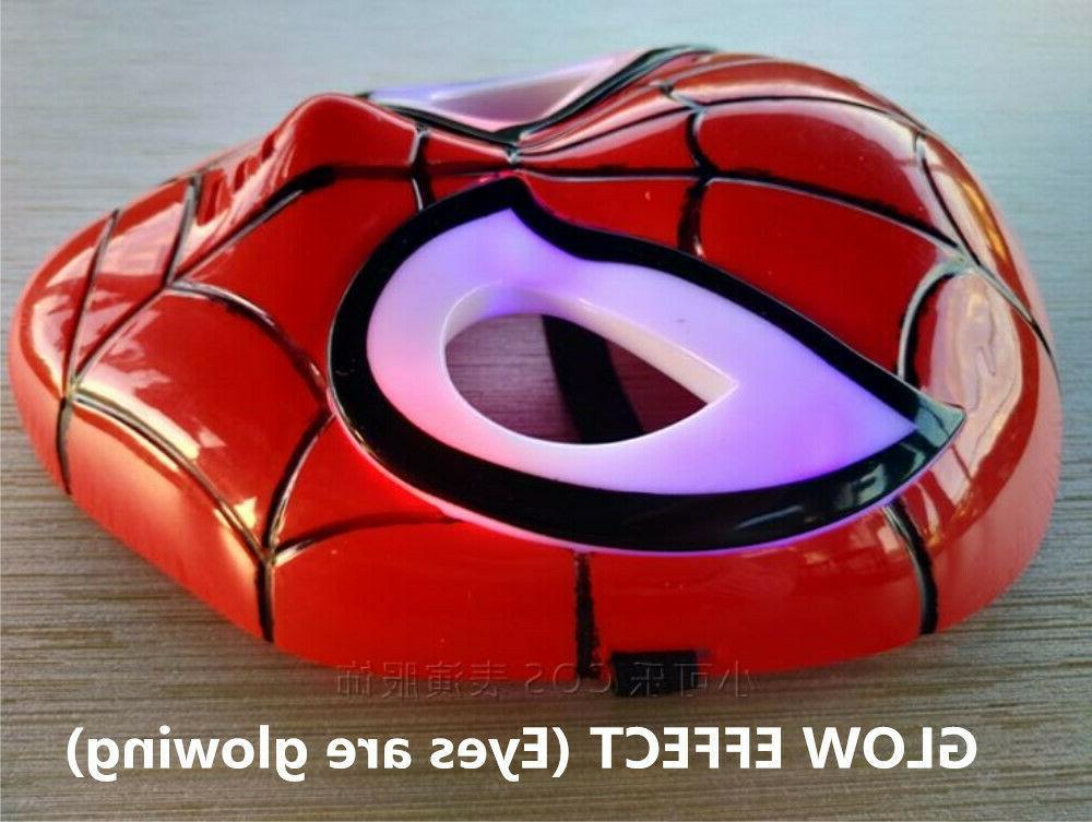 LED Super Hero Cloak &Hulk Iron Man Avenger Boys Costume
