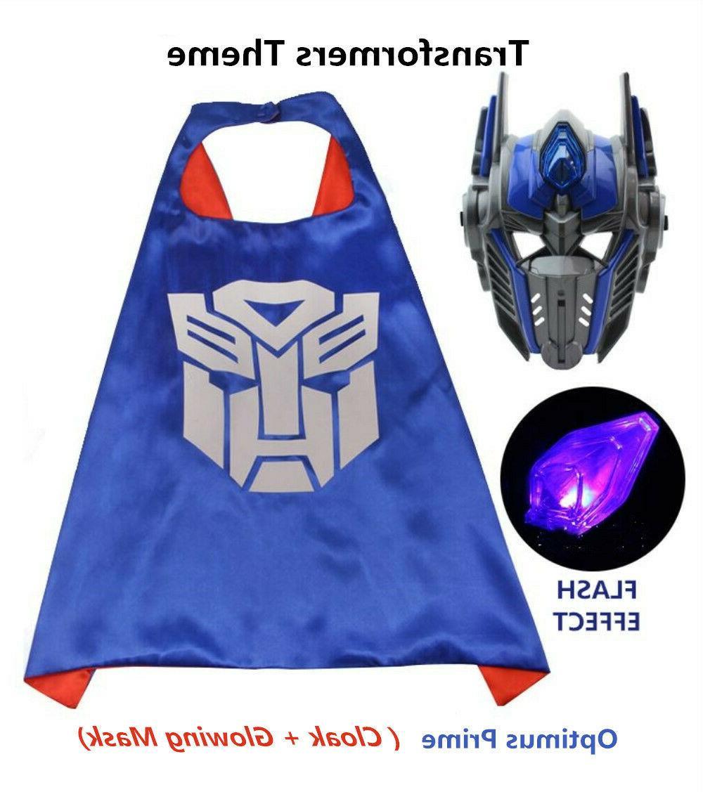 LED Hero Cloak Transformers Man Avenger Kids Boys Costume
