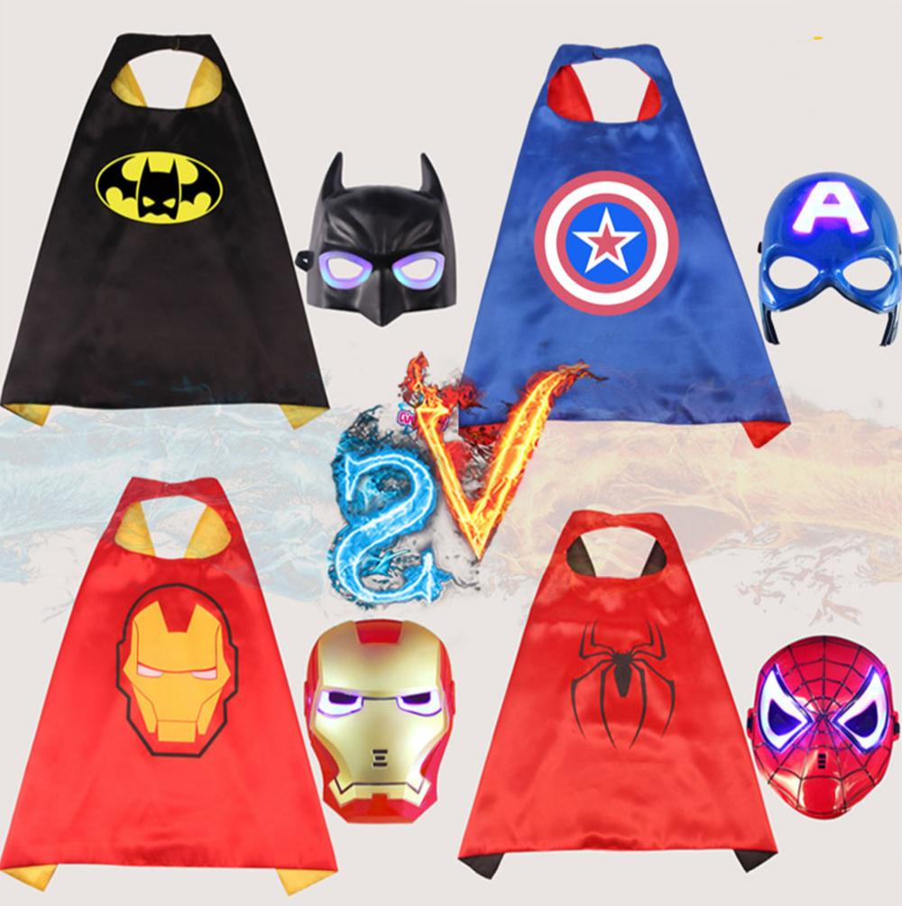 led super hero mask cloak transformers