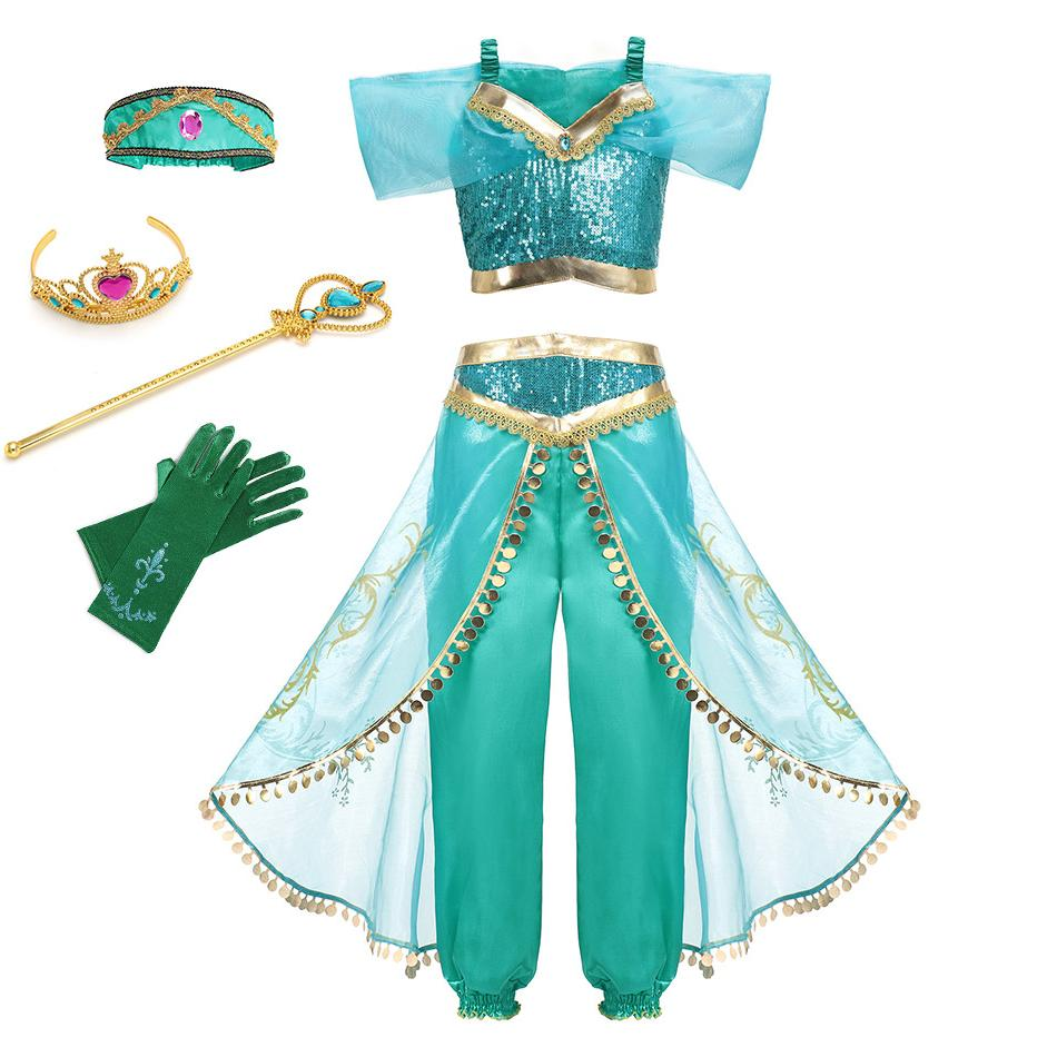 Little <font><b>Girls</b></font> Cinderella Sleeping Belle Dress up <font><b>Costume</b></font> with <font><b>Accessories</b></font> <font><b>Kids</b></font> Elsa Jasmine