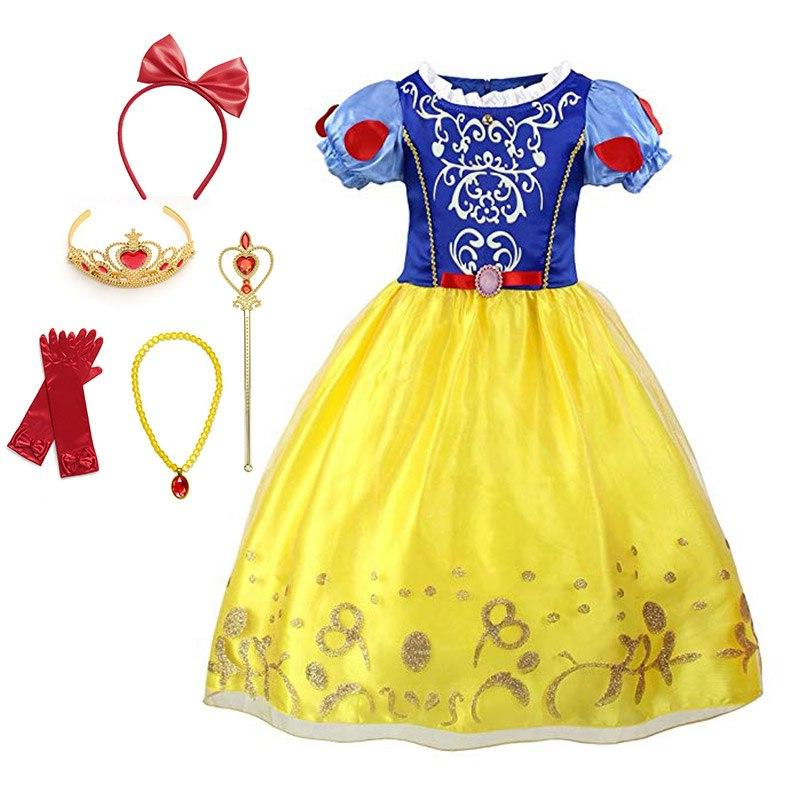 Little <font><b>Girls</b></font> Rapunzel Cinderella Sleeping Beauty Dress <font><b>Accessories</b></font> <font><b>Kids</b></font> Elsa Anna Jasmine Cosplay