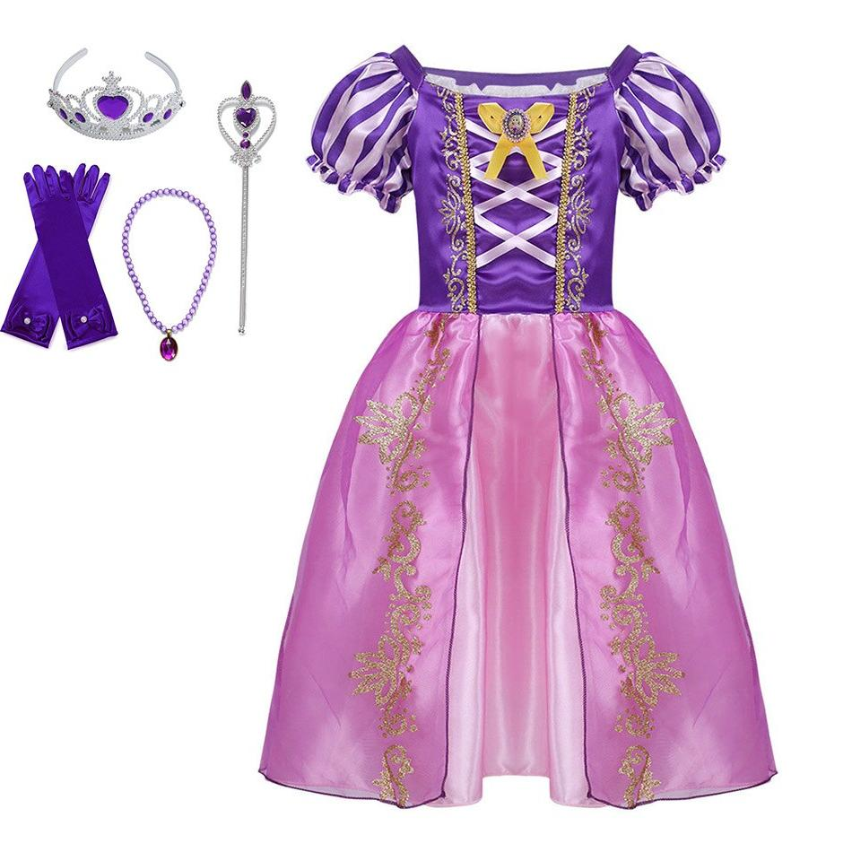 Little <font><b>Girls</b></font> Princess Cinderella Dress <font><b>Accessories</b></font> <font><b>Kids</b></font> Elsa Anna Jasmine Cosplay