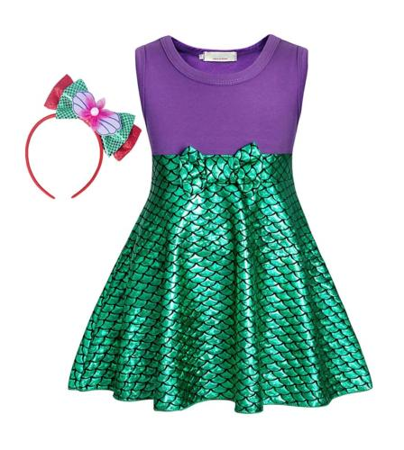 AmzBarley Little Mermaid Skirt Kids Ariel Dress for Girls Pr