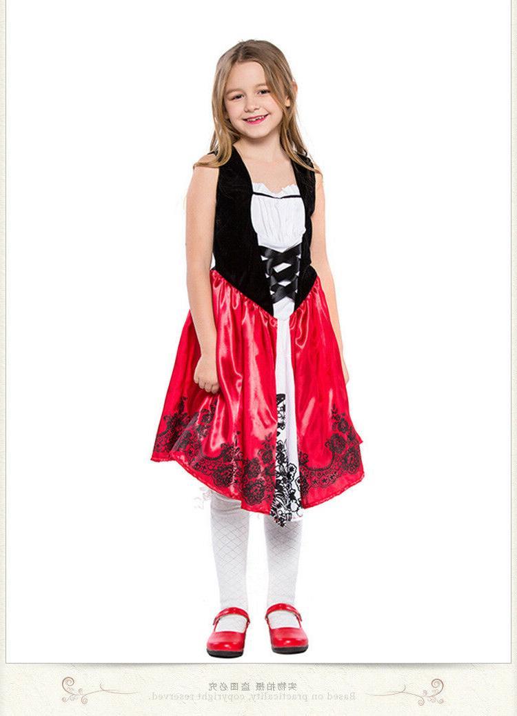 Little Riding Hood Costume Girls Tale Halloween Fancy ZG