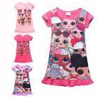 Lol Surprise Dolls Pajamas Kids Girl Cotton Sleepwear Nightg