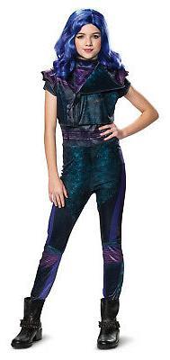 Mal Girls Child Disney Descendants 3 Halloween Costume