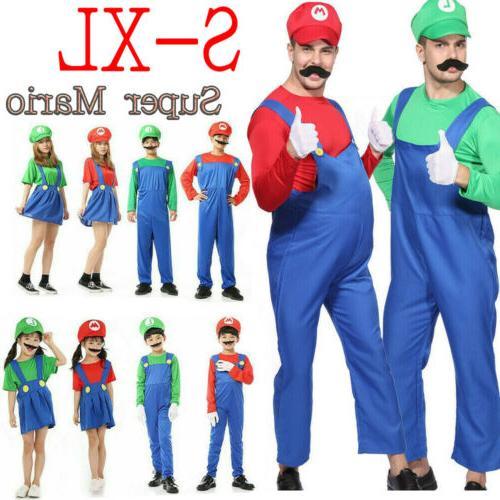 Men's Mario Bros Cosplay Fancy Outfit