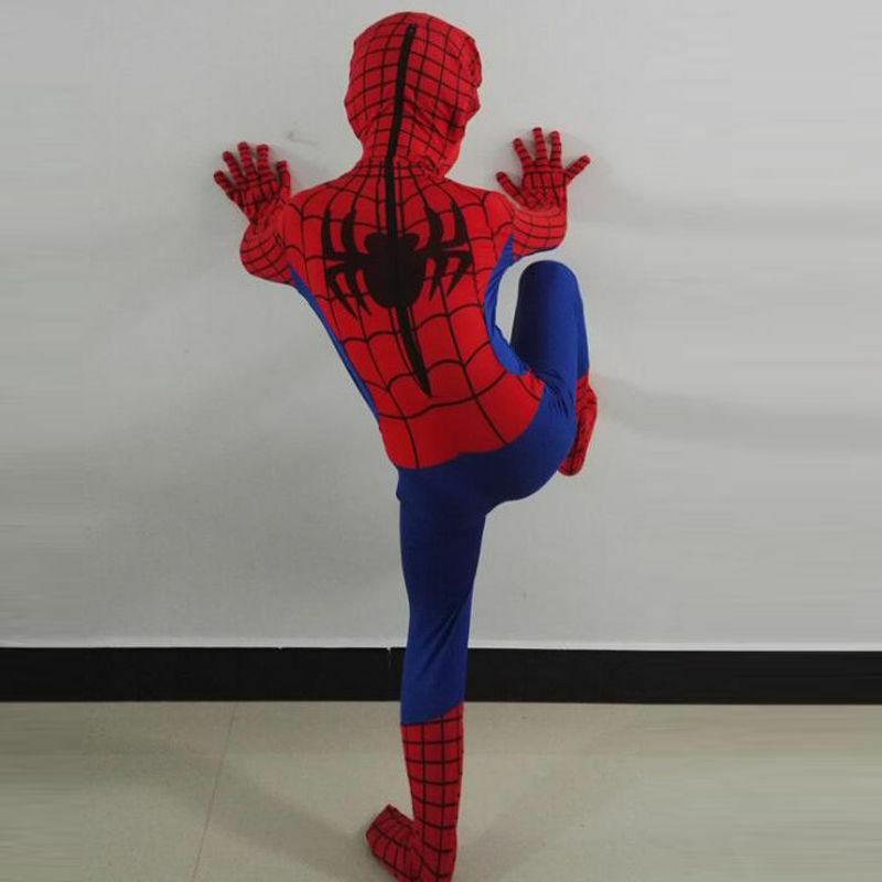 Party Spiderman Costume Kids Superhero Bodysuit O33B