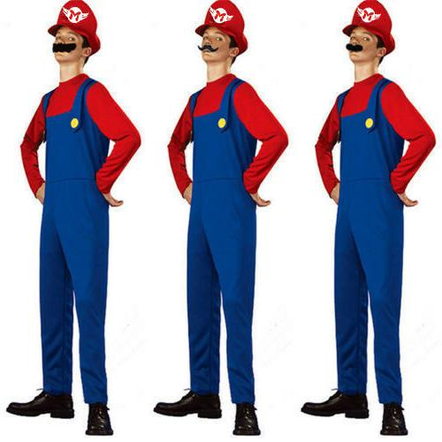 Mens Super Brothers Cosplay Games Plumber Fancy