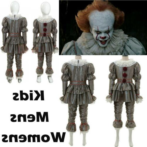 Mens Womens Kids Movie It Chapter Two Pennywise Cosplay Cost