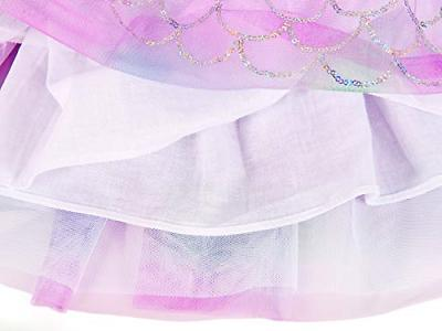 AmzBarley Dress Scale Sequins Tulle