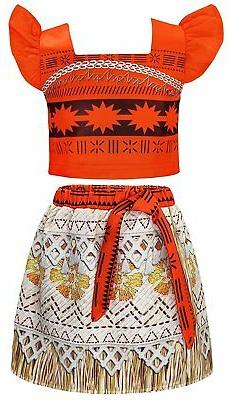 AmzBarley Moana Costume For Toddler Kids Party Princess Skir