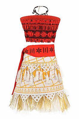 Moana Dress Girls Costume Princess Cosplay Adventure
