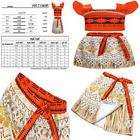 AmzBarley Princess Moana Costume Skirt Set For Toddler Kids