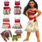 Moana Maui Girls Boys Fancy Dress Princess Kids Halloween Co