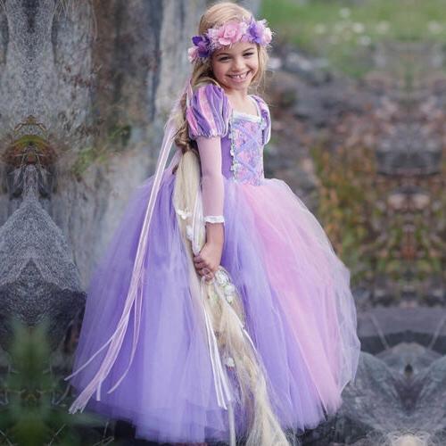 New Disney Princess Kids Girls Halloween Fancy Dress