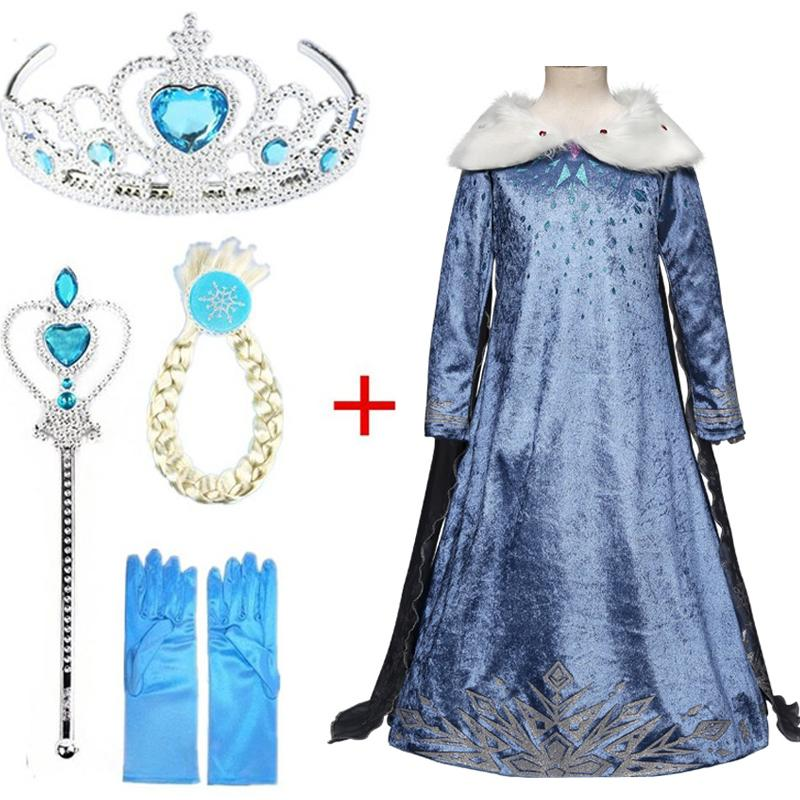 New Dress Cosplay Snow Queen Anna for Clothing