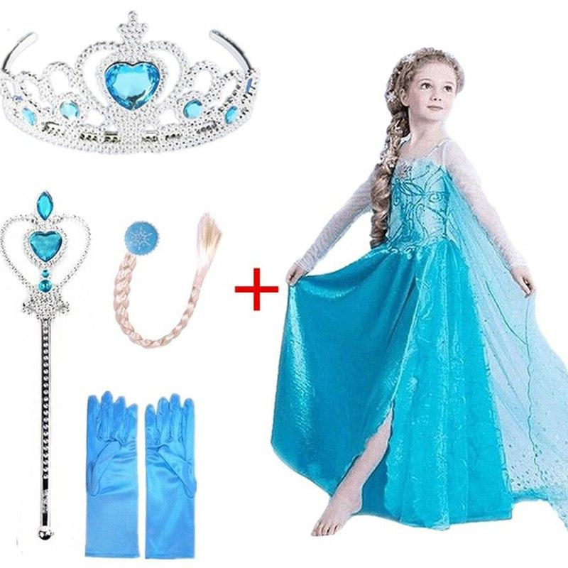 New Dress Cosplay Snow Anna Hair for